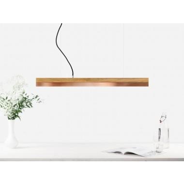 GANTlights - [C2o]copper Pendelleuchte Eichenholz und Kupfer klein