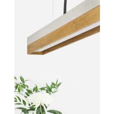 GANTlights - [C2]oak Pendelleuchte Eichenholz klein
