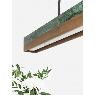 GANTlights - [C2m]nut Pendelleuchte Marmor und Nussbaum klein