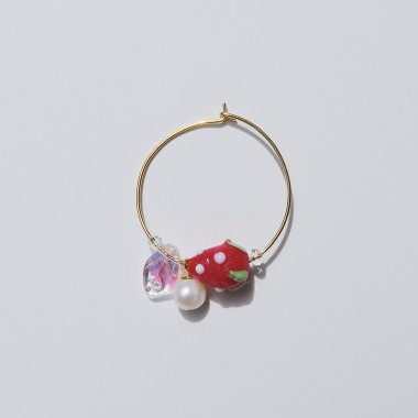 Valerie Chic - HAPPY STRAWBERRY Ohrring - 925 Silber