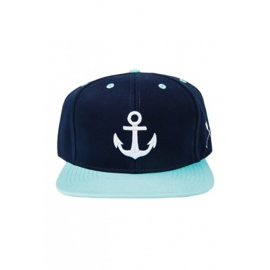 HOME IS WHERE YOUR HEART IS. - WONDERLAND SNAPBACK (NAVY BLUE/MINT)
