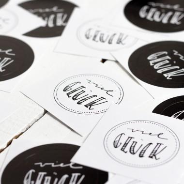 Kleine Papeterie // Viel Glück // Sticker // Handlettering
