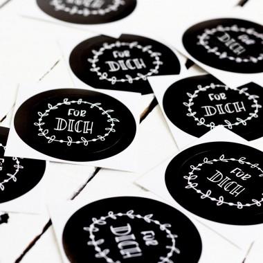 Kleine Papeterie // Für Dich // Sticker // Handlettering