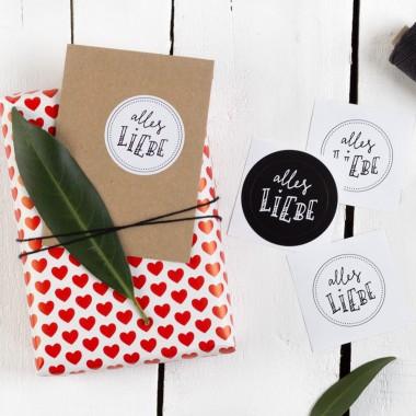Kleine Papeterie // Alles Liebe // Sticker // Handlettering