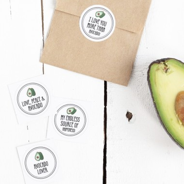 Kleine Papeterie // Obststicker // Avocado