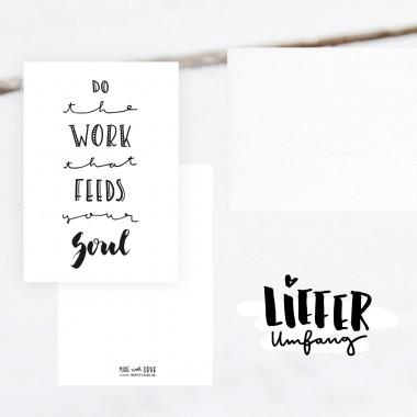 Kleine Papeterie // Do the Work // Luxe Karte
