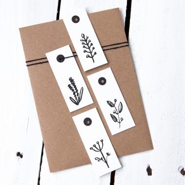 Kleine Papeterie // Geschenkanhänger // Pflanzen // 600g Papier