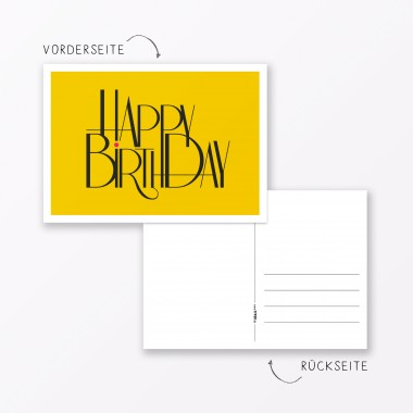"TYPOP 10-teiliges Set Design GEBURTSTAGSKARTE ""Happy Birthday"" DIN ..."
