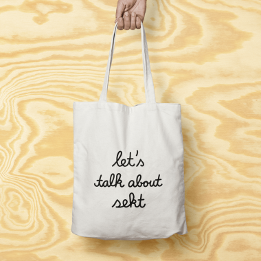 "edition ij Baumwolltasche ""let's talk about sekt"""