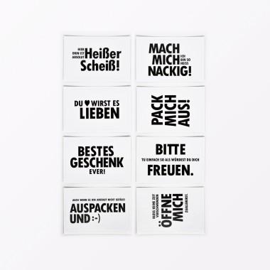 TYPOP 8-teiliges Geschenkaufkleber-Set 84 x 55 mm