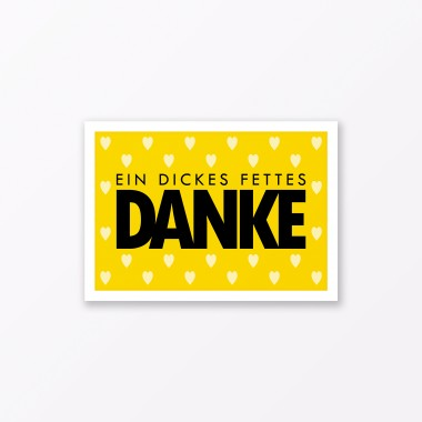 "TYPOP 10-teiliges Set Postkarte ""Dickes fettes Danke"" mit Herz DIN A6"