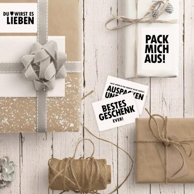 TYPOP 8-teiliges Geschenkaufkleber-Set DIN A7 (auf Bogen)