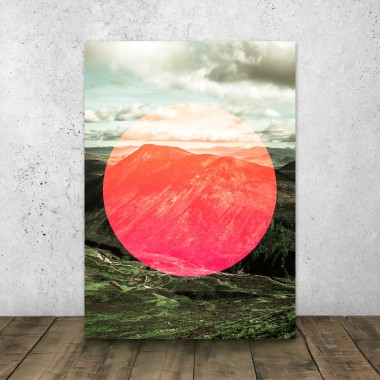 JOE MANIA / Modern Artprint Poster / Circular Landscapes (Scottish Highlands)