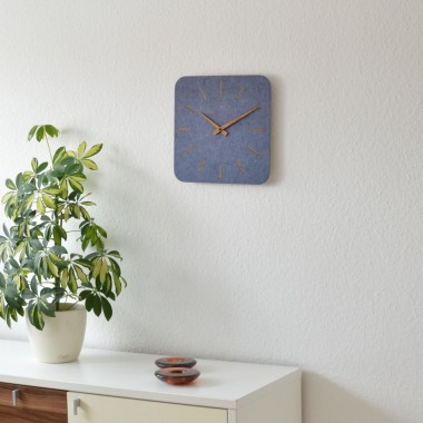 Wanduhr FELTRO aus Filz | QUADRAT - 5 Farben erhältlich