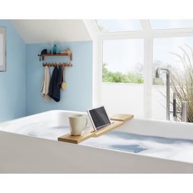 WOOD U? Halterung für iPad und Tablet für die Badewanne