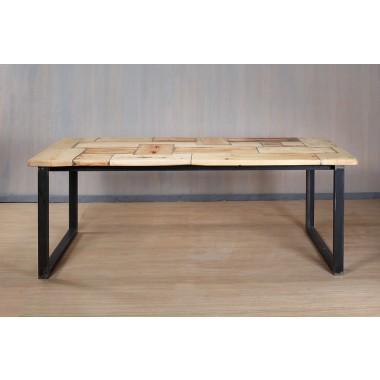 Esstisch aus Bauholz & Eisen Sophi 200x100cm