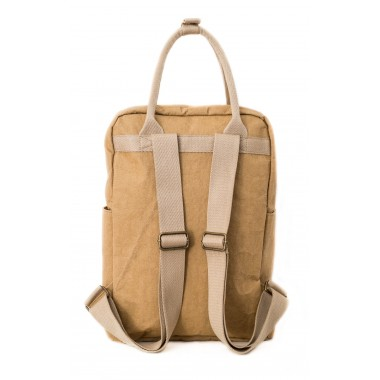 PAPERO Rucksack LYNX aus Kraft- Papier 2 in 1 Handtasche, robust, leicht wasserfest, vegan, nachhaltig, fair Urban Style   Nachwachsendes Material mit FSC Zertifikat