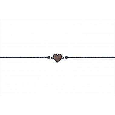 "Armband mit Holzdetail - Motiv Herz - ""Apis Nox Bracelet Heart"""