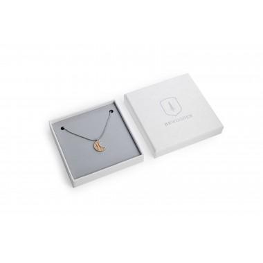 """Halskette mit Anhänger - Holz Detail - Motiv Halbmond - """"Lini Necklace Halfmoon"""""""
