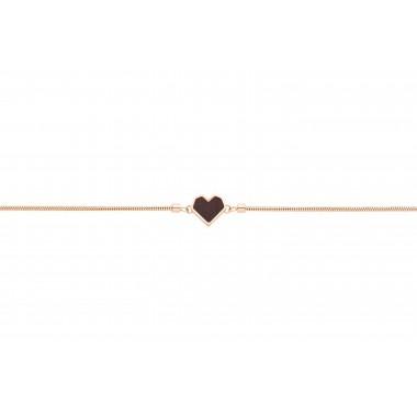"Armband mit Holzdetail - Motiv Herz - ""Rose Bracelet Heart"""