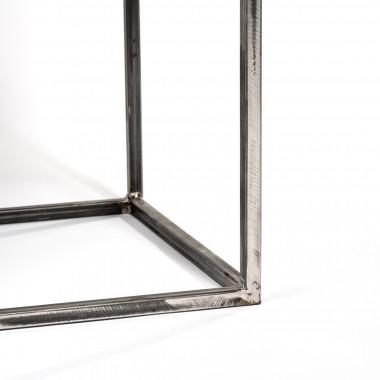 Beistelltisch aus Beton und Stahl minimalistisch grau