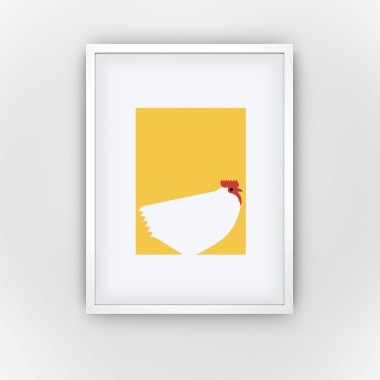 Hen in Yolk (Fine Art Bureau)