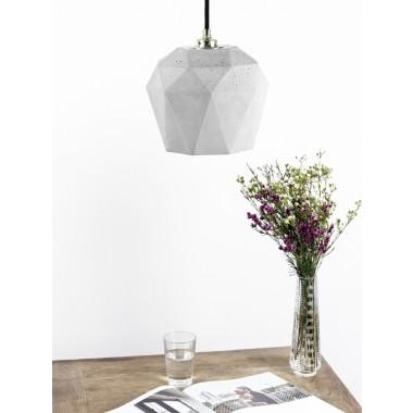 Beton Hängelampe Lampe Gold trianguliert  [T3]