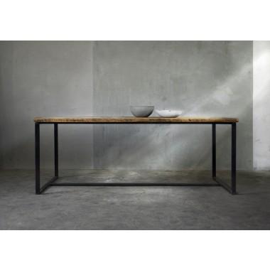 betonidee cretable tisch aus holz und beton. Black Bedroom Furniture Sets. Home Design Ideas