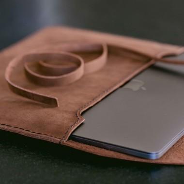 """hecho. Ledertasche """"Pablo"""" für MacBook Air 13"""" Retina, 2018 (Hülle, Cover, Sleeve, Schutz)"""