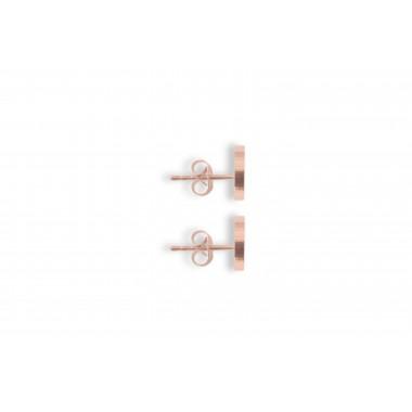 """Ohrringe mit Holzdetail - Ohrstecker - Motiv Herz - """"Rose Earrings Heart"""""""
