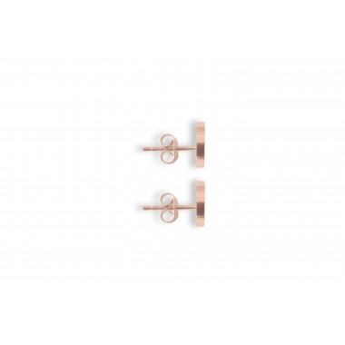 "Ohrringe mit Holzdetail - Ohrstecker - Motiv Halbmond - ""Rose Earrings Halfmoon"""
