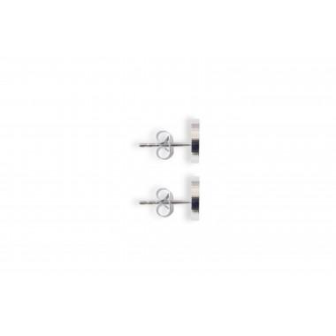 """Ohrringe mit Holzdetail - Ohrstecker - Motiv Halbmond -""""Lini Earrings Halfmoon"""""""