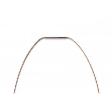 """Halskette mit Anhänger - Holz Detail - Motiv Halbmond - """"Rose Necklace Halfmoon"""""""