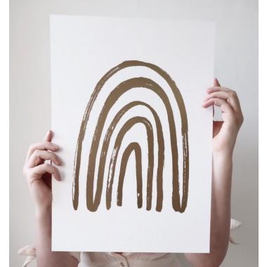 GOLDEN RAINBOW - A3 Print mit Goldfolie - Anna Cosma