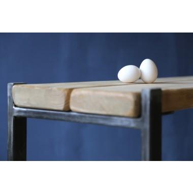 Sideboard Industrial Stil, Bauholz/Eisen Sinem 160