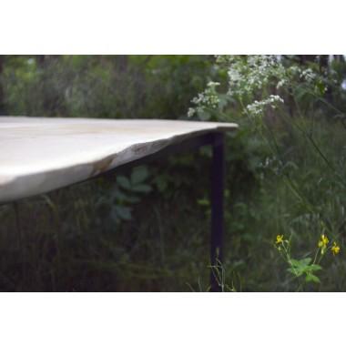 Esstisch aus Birkenholz & Eisen Laura 200x100cm