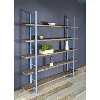 Regal Sinem Bücherstütze 210x170cm Blau
