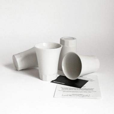 Porzellan Becher für Wein und Wasser, Moderner Becher aus der POSITANO Kollektion by ORTOGONALE