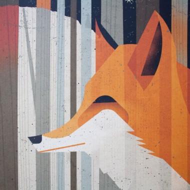 KLEINWAREN / VON LAUFENBERG Set 11 / Midnight Foxes + Magnetische Posterleiste 50 cm