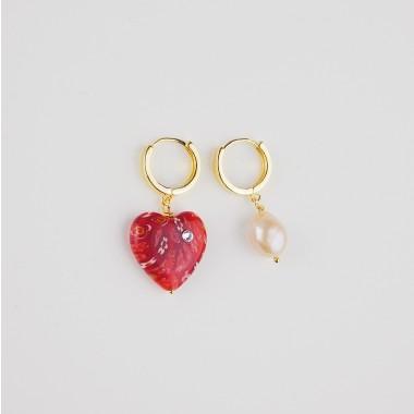 Valerie Chic - ALWAYS LOVE YOU Perle Creolen - 18 Karat vergoldet, Swarovski Kristalle