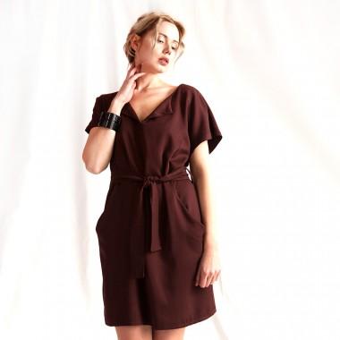 """WiDDA - Kleid """"Toni"""" in Bordeaux"""