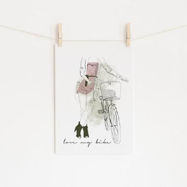 nathys_illustration - love my bike DINA4