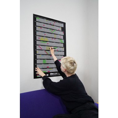 Bob And Uncle Design – Wandkalender – Now Is Better 2022 – Schwarz – 680 x 1000 mm