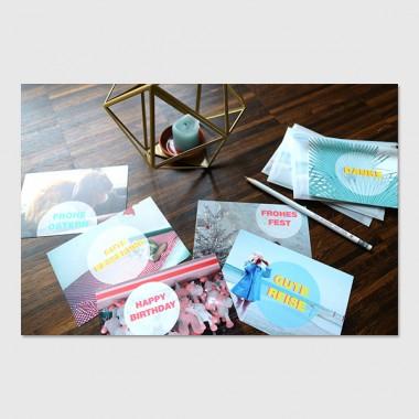 """ZEITLOOPS 6er Postkartenset """"Motto"""""""