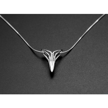 SPACE JEWELS. YOUNIVERSAL Figura, Anhänger mit Kette. Sterling Silber