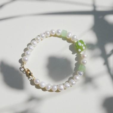 Valerie Chic - HAPPY BERRY Perlen Armband - Grün