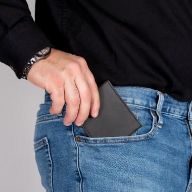 PAPERO extrem flaches mini Wallet Modell RAVEN Kraftpapier, robust, leicht, mit integriertem RFID-Schutz FSC Siegel