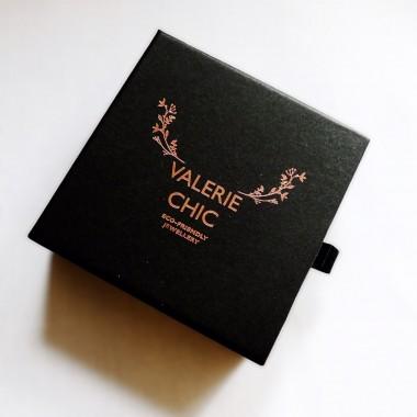 Valerie Chic - LOVE lange Ohrringe - 18 Karat vergoldet