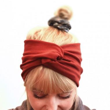 """WiDDA - rostrotes Stirnband """"Rusty"""" aus Baumwollsweat"""