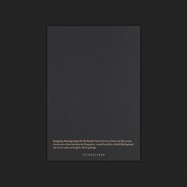 Feingeladen // TYPOGRAFICA // Alle Jahre Wieder (Black Edition) – A6